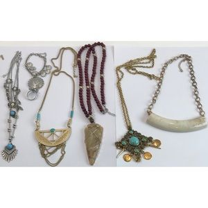 Boho Jewelry Lot 6 Statement Pieces